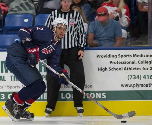Boston University's Jordan Greenway earns spot on U.S. roster for IIHF world junior championship (Photo/Rena Laverty/USA Hockey).
