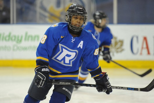 Kryshanda Green leads Ryerson University's women's hockey team in scoring in the 2016-17 season (Photo by Alex D'Addese/ Ryerson Rams Athletics)