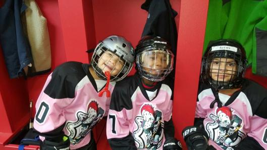 These Tucker Road Ducks ducklings are all smiles after the hockey community stepped up and donated more than $10,000 to the team after a two-alarm fire severely damaged their home rink.