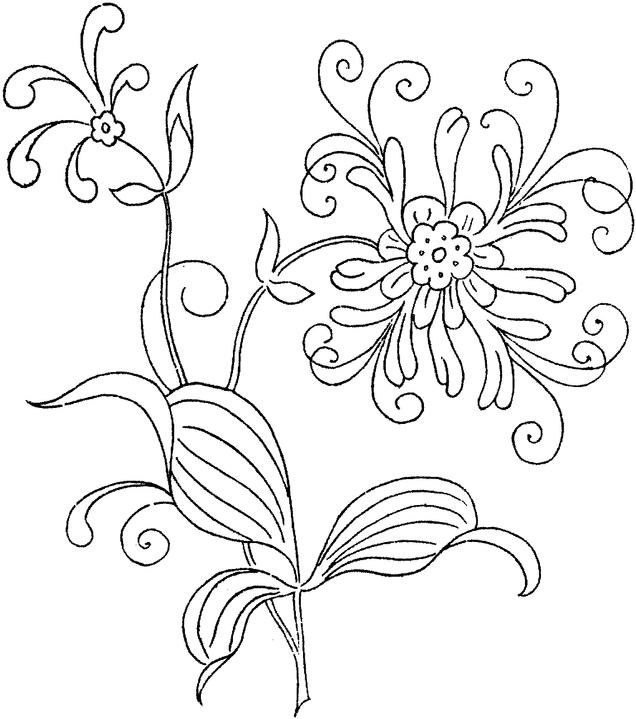 flowers 22 coloring page