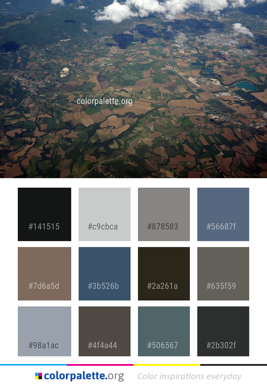 Aerial Photography Sky Bird S Eye View Color Palette Colorpalette Org