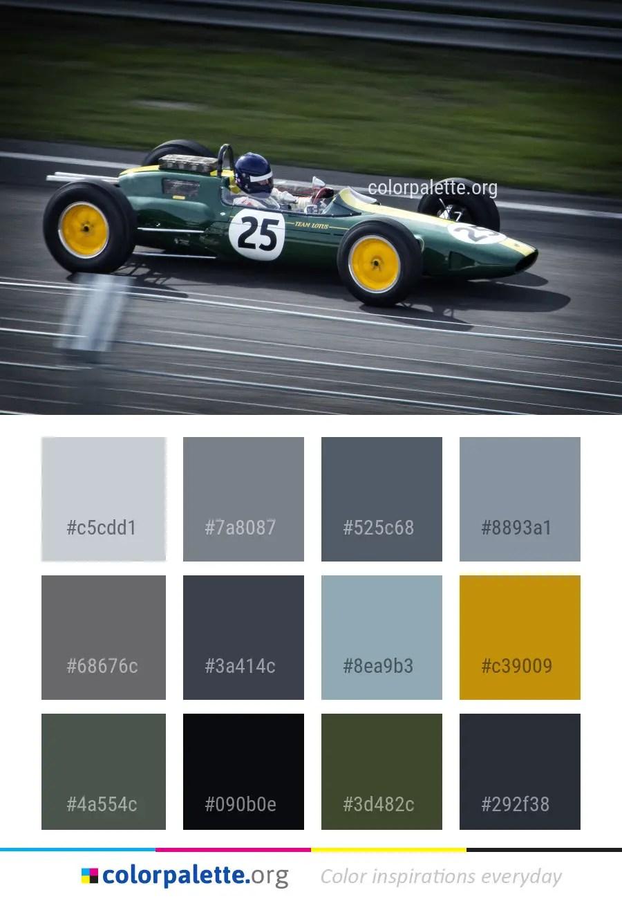 - Car Lotus 25 Open Wheel Color Palette Colorpalette.org