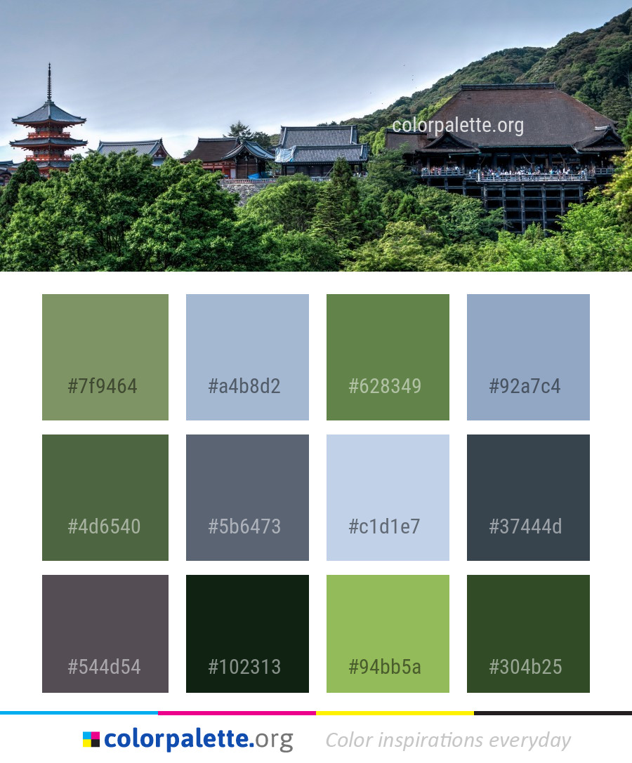 Chinese Architecture Historic Site Japanese Color Palette