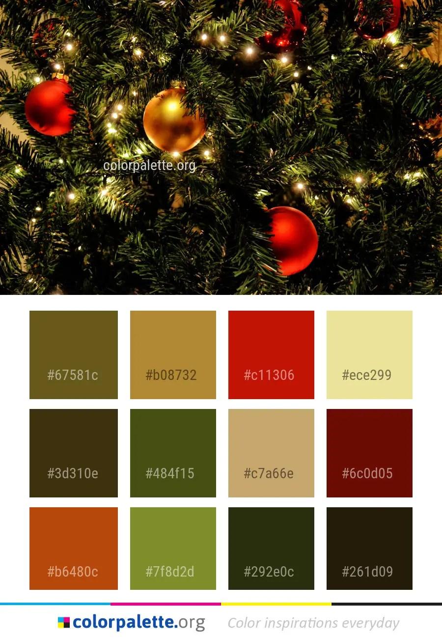 Christmas Picture Color Schemes.Christmas Decoration Tree Color Palette Colorpalette Org