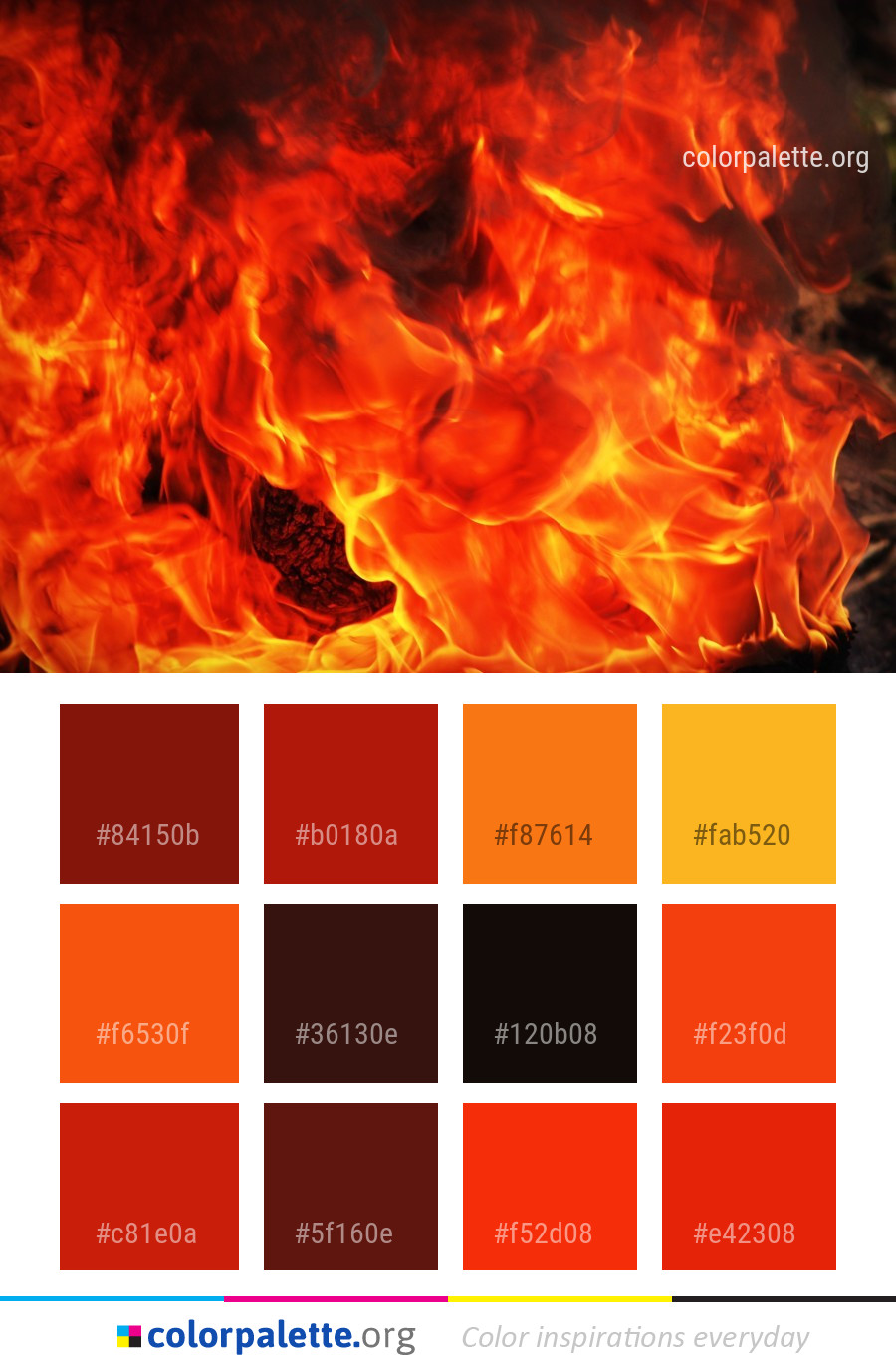 Fire Flame Orange Color Palette Colorpalette Org