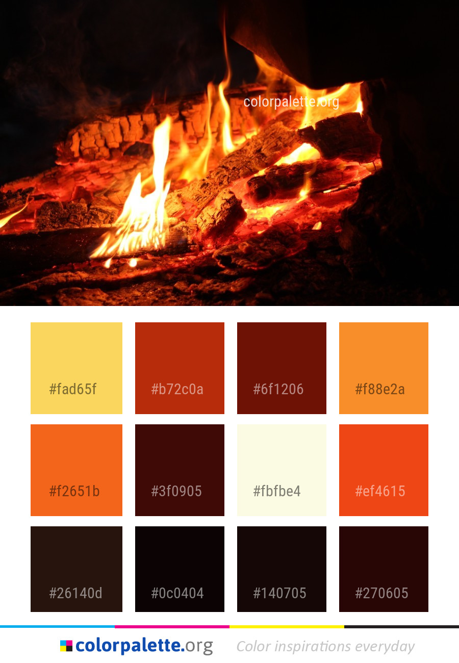 Fire Heat Flame Color Palette Colorpalette Org