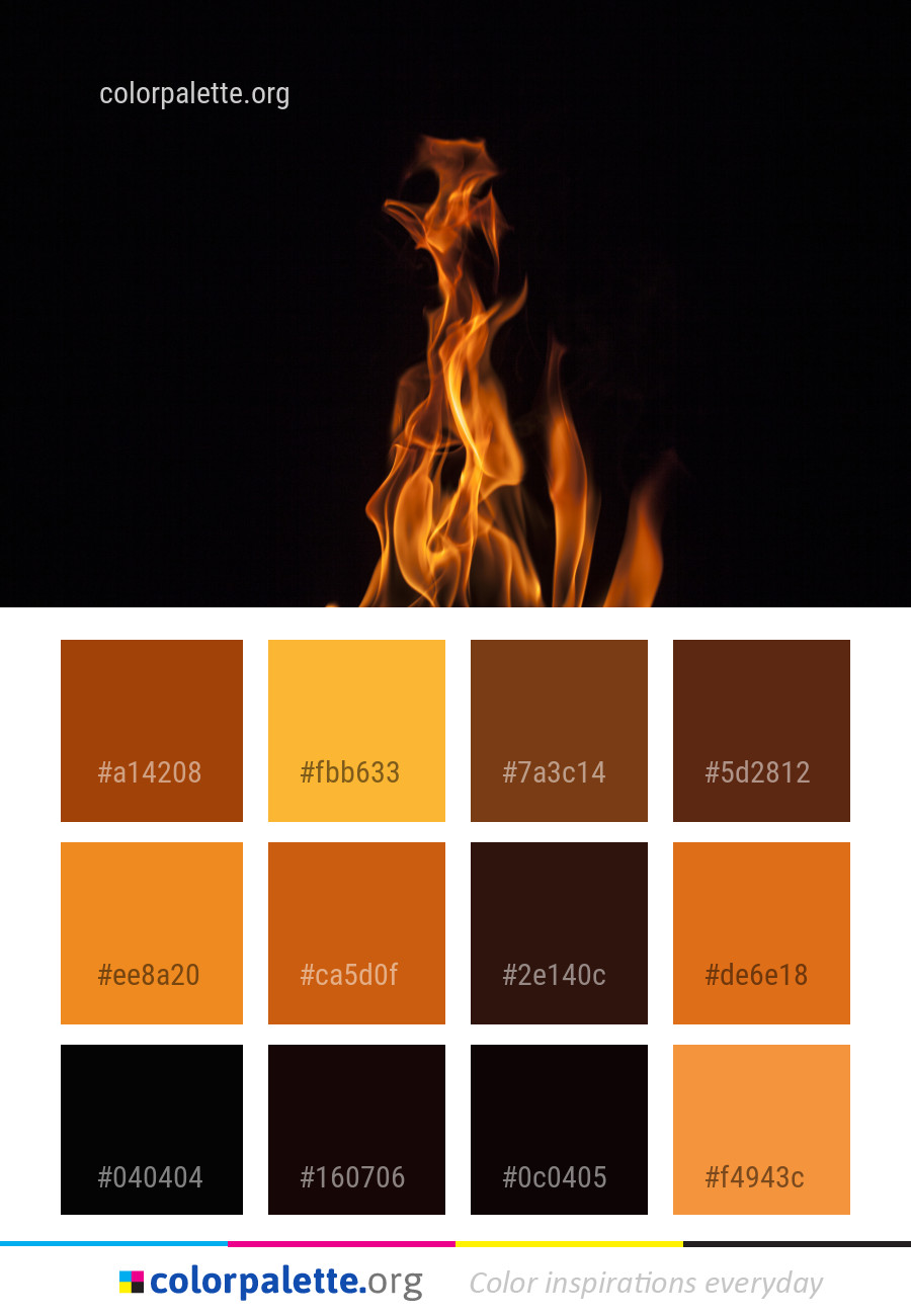 Flame Fire Heat Color Palette Colorpalette Org