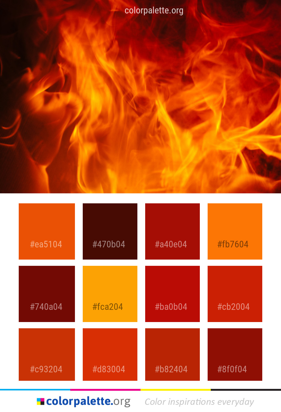 Flame Fire Orange Color Palette Colorpalette Org