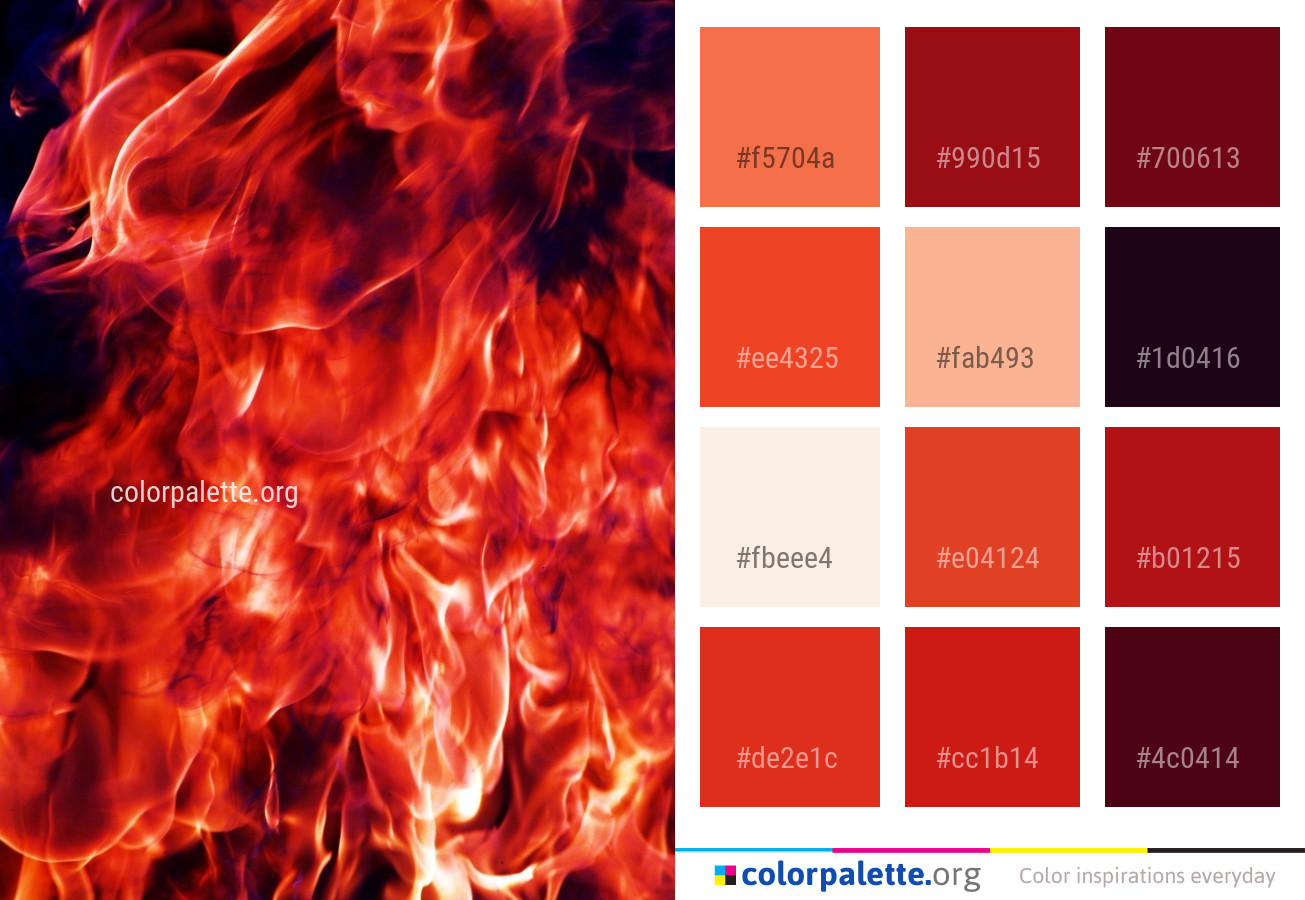 Flame Orange Fire Color Palette Colorpalette Org
