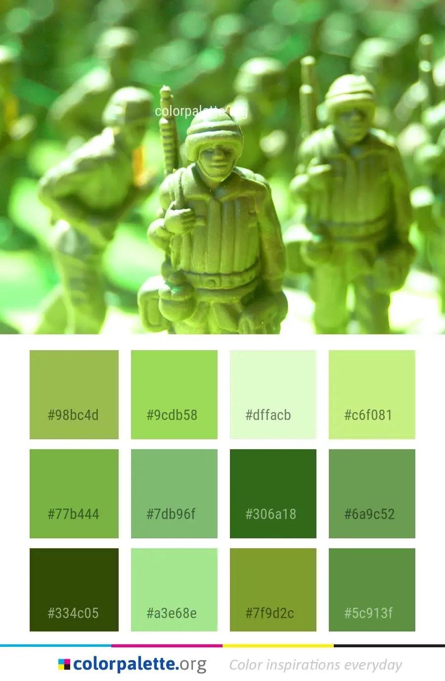 Green Army Men Grass Color Palette Colorpalette Org,Mint Green Peach Color Combination Dresses