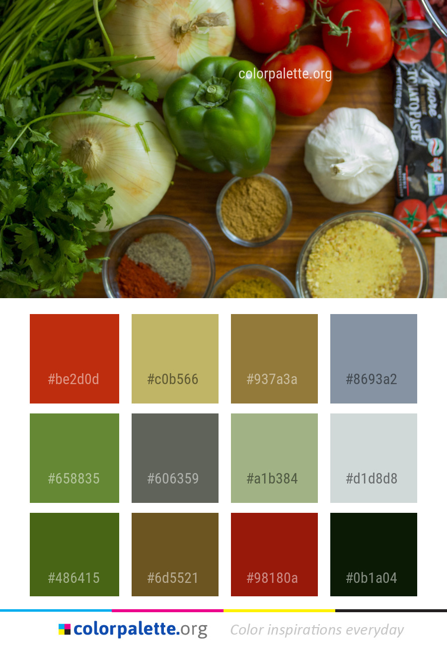 Natural Foods Vegetable Food Color Palette | colorpalette.org