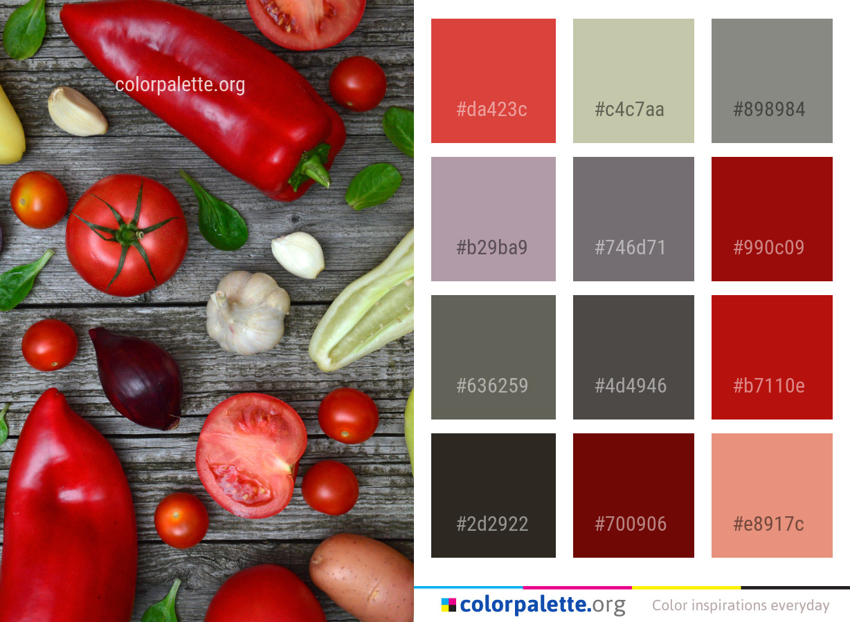 Natural Foods Vegetable Local Food Color Palette | colorpalette.org