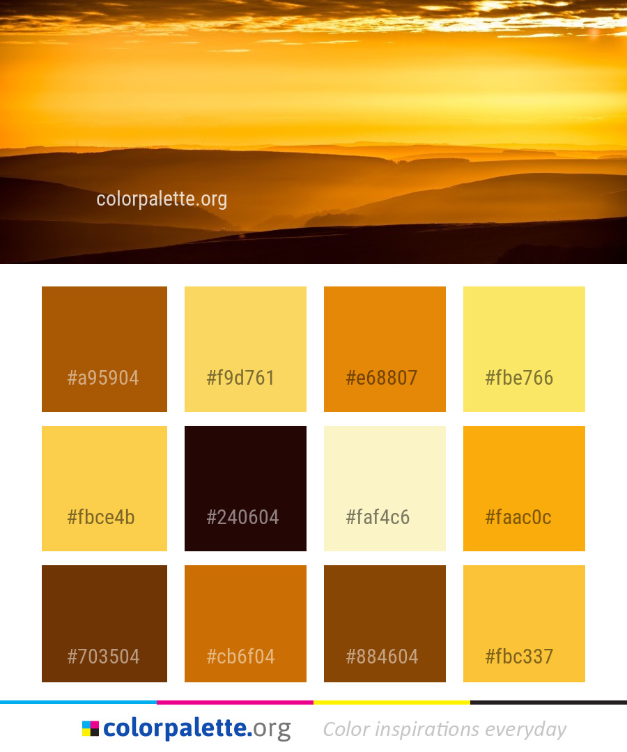 Sky Afterglow Yellow Color Palette | colorpalette.org