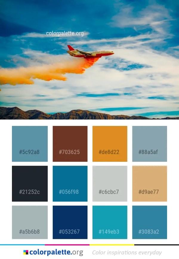 Air Color Palette : color, palette, Cloud, Travel, Color, Palette, Colorpalette.org