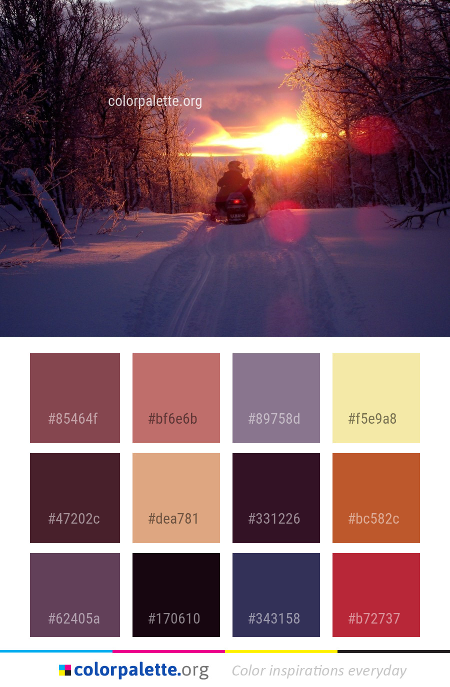 Snow Winter Sky Color Palette Colorpalette Org