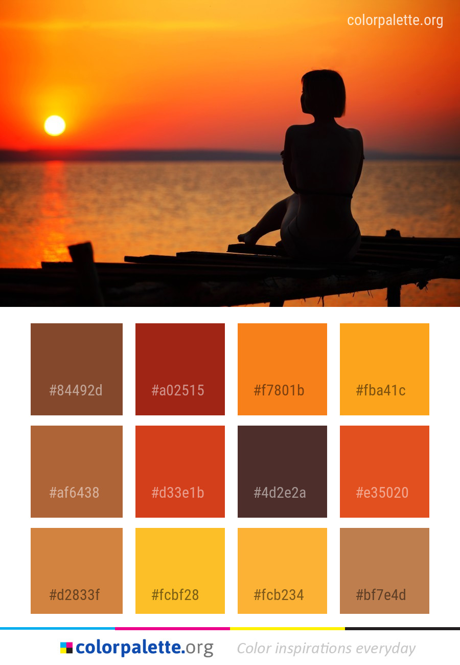 Sunset Sky Sunrise Color Palette Colorpalette Org