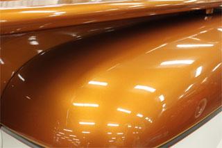 Orange Copper Color Pearls on Hood.