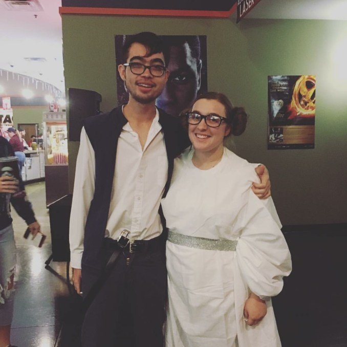 Daniel and I cosplayed at the Star Wars: The Force Awakens premiere