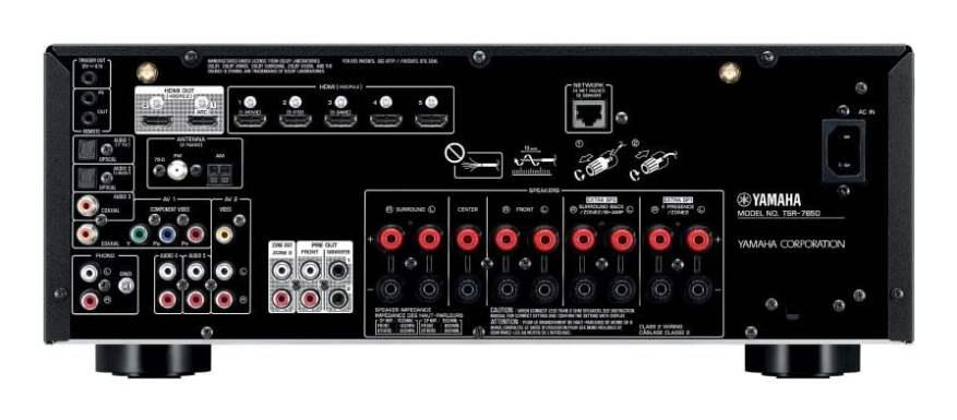 Yamaha TSR-7850 AV Receiver Back