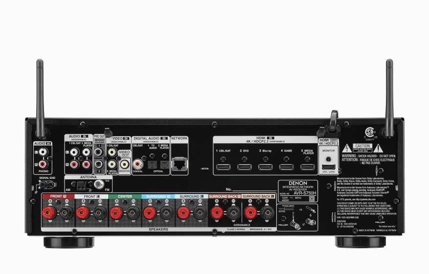 Denon AVR-S750H Back