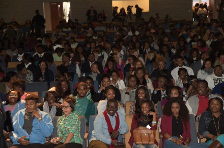 SELMA, AL - JANUARY 18: EDITORIAL USE ONLY- A view of the audience at the Selma High School Q&A event on January 18, 2015 in Selma, Alabama. (Photo by Rick Diamond/Getty Images for Paramount Pictures)