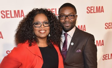 """SELMA, AL - JANUARY 18: EDITORIAL USE ONLY Oprah Winfrey and David Oyewolo attend a special screening of """"Selma,"""" presented by Paramount Pictures on January 18, 2015 in Selma, Alabama. (Photo by Paras Griffin/Getty Images for Paramount Pictures) *** Local Caption *** Oprah Winfrey; David Oyewolo"""