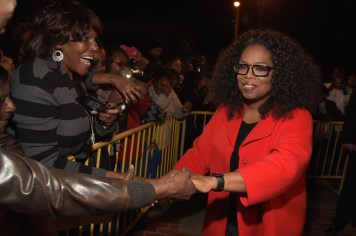 """SELMA, AL - JANUARY 18: EDITORIAL USE ONLY Oprah Winfrey attends a special screening of """"Selma,"""" presented by Paramount Pictures on January 18, 2015 in Selma, Alabama. (Photo by Rick Diamond/Getty Images for Paramount Pictures) *** Local Caption *** Oprah Winfrey"""