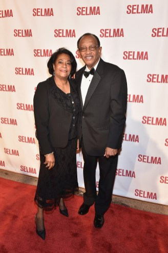 "SELMA, AL - JANUARY 18: EDITORIAL USE ONLY Selma Mayor George Evans and Jeannie Evans attend a special screening of ""Selma,"" presented by Paramount Pictures on January 18, 2015 in Selma, Alabama. (Photo by Paras Griffin/Getty Images for Paramount Pictures) *** Local Caption *** George Evans; Jeannie Evans"