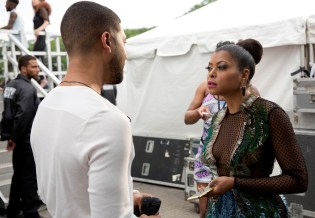 EMPIRE: Jussie Smollett as Jamal Lyon and Taraji P. Henson as Cookie Lyon in the ÒThe Devils Are HereÓ Season Two premiere episode of EMPIRE airing Wednesday, Sept. 23 (9:00-10:00 PM ET/PT) on FOX. ©2015 Fox Broadcasting Co. Cr: Chuck Hodes/FOX.