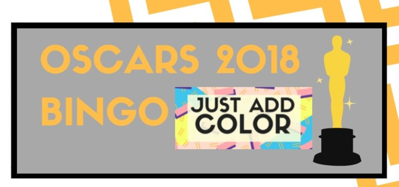 Logo for Just Add Color's Oscars 2018 Bingo game.