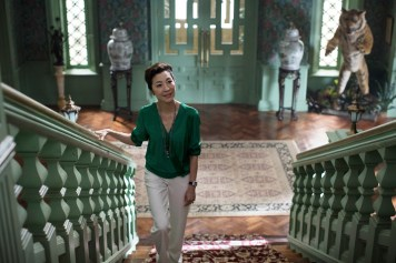 """Photo Credit: Sanja Bucko Caption: MICHELLE YEOH as Eleanor in Warner Bros. Pictures' and SK Global Entertainment's and Starlight Culture's contemporary romantic comedy """"CRAZY RICH ASIANS,"""" a Warner Bros. Pictures release."""