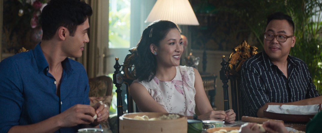 "Photo Credit: Sanja Bucko Caption: (L-R) HENRY GOLDING as Nick, CONSTANCE WU as Rachel and NICO SANTOS as Oliver in Warner Bros. Pictures' and SK Global Entertainment's and Starlight Culture's contemporary romantic comedy ""CRAZY RICH ASIANS,"" a Warner Bros. Pictures release."
