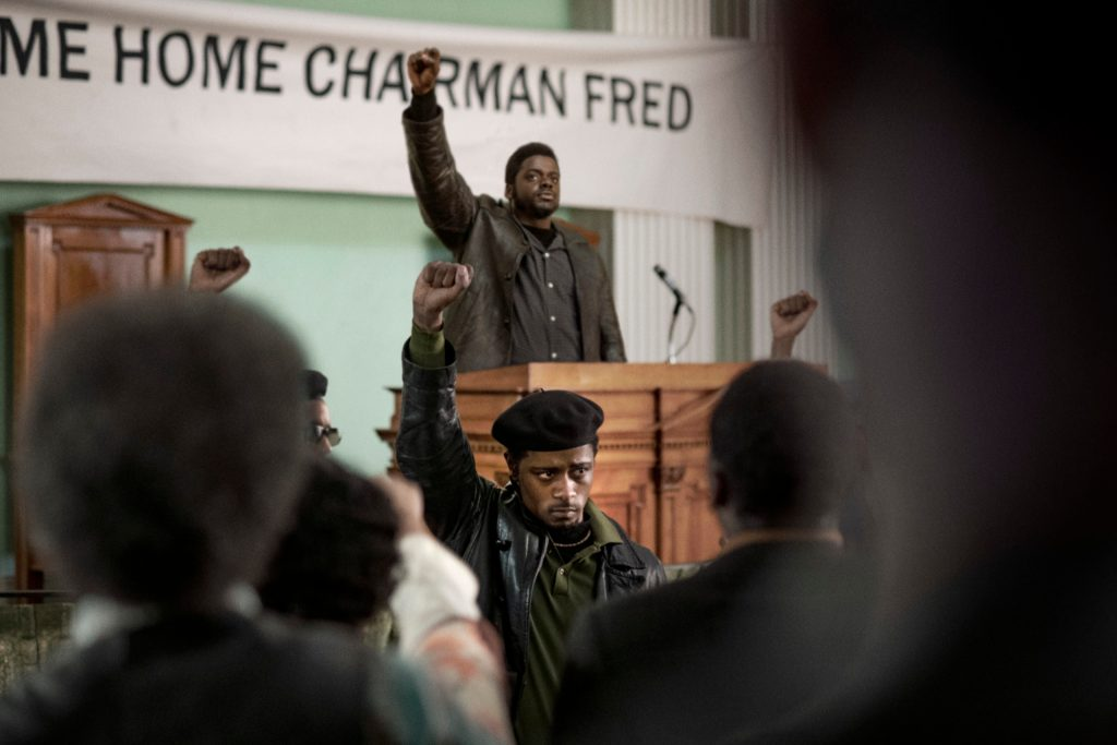 (Center front-back) LaKeith Sanfield as William O'Neal and Daniel Kaluuya as Chairman Fred Hampton in Warner Bros. Pictures' Judas and the Black Messiah, a Warner Bros. Pictures release. (Photo credit: Glen Wilson)