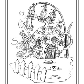 Faerie Houses Coloring Pages