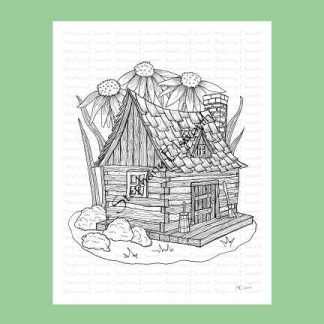 Fairy Cabin Coloring Page