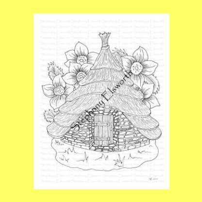 Fairy Round House Coloring Page