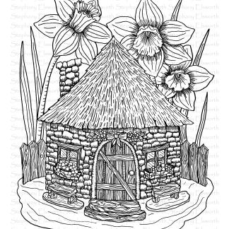 Cob Fairy House