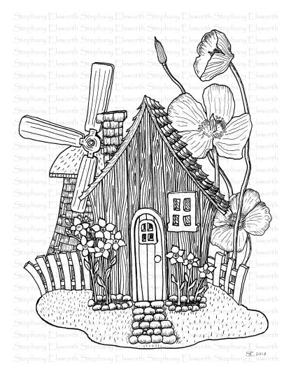 Fairy Cottage with Windmill