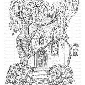 Lilac Cottage Fairy House