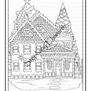 Victorian Gingerbread House Coloring Page