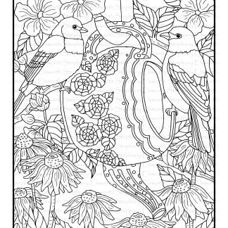 Blossoms and Birds Pages 6-10