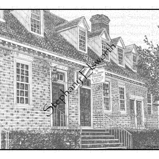 Brick House Tavern Coloring Page
