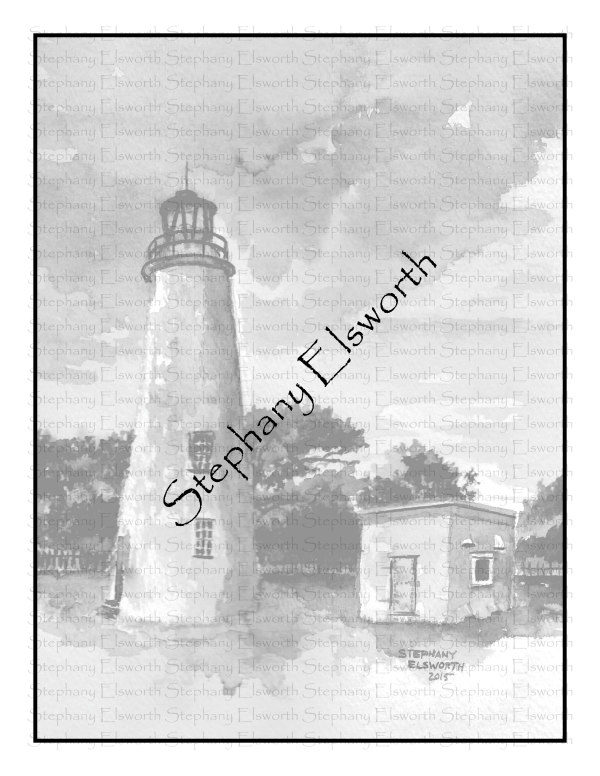 Ocracoke Grayscale Coloring Page