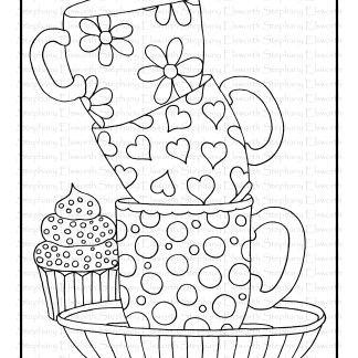 Coffee Cups and Cupcake