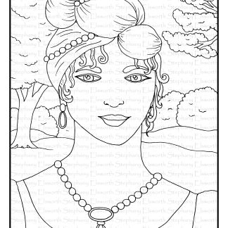 Regency Girl Coloring Page