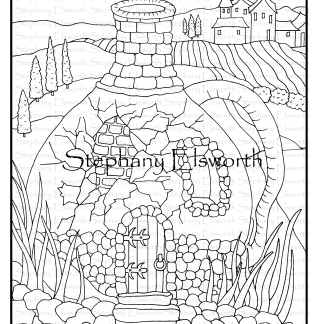 Tuscan Fairy House Coloring Page