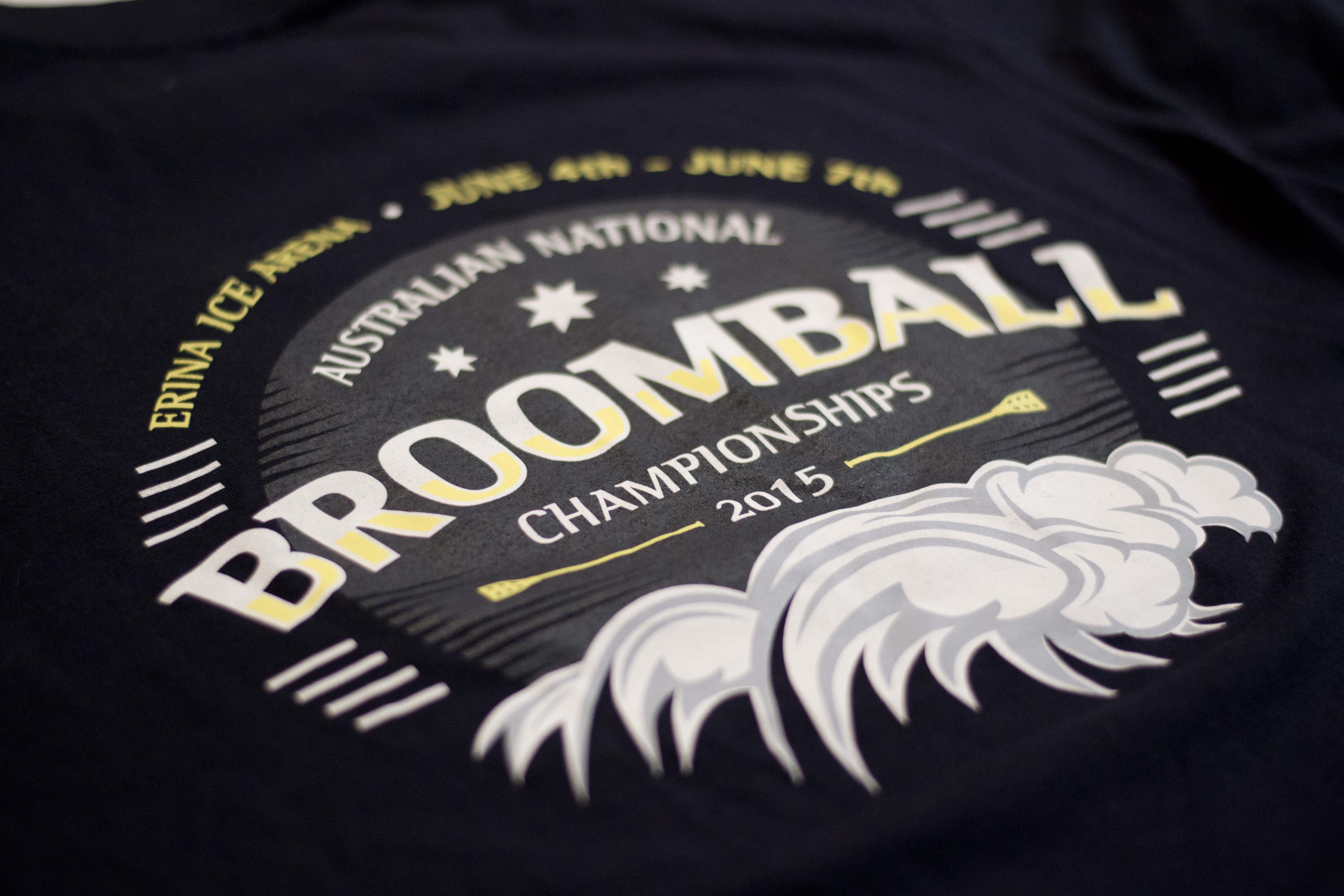 2015 Australian National Broomball Championship shirt