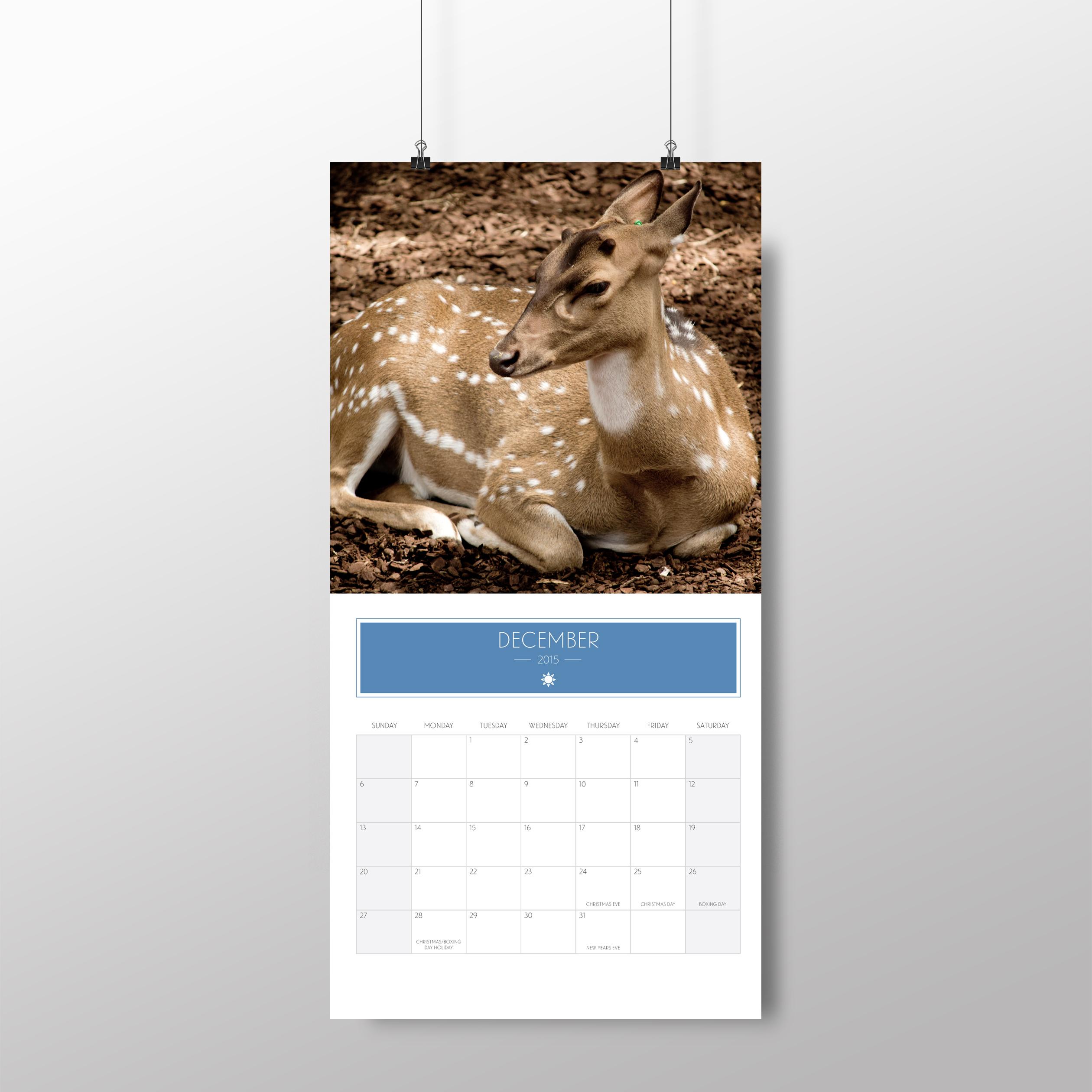 Animal calendar – December