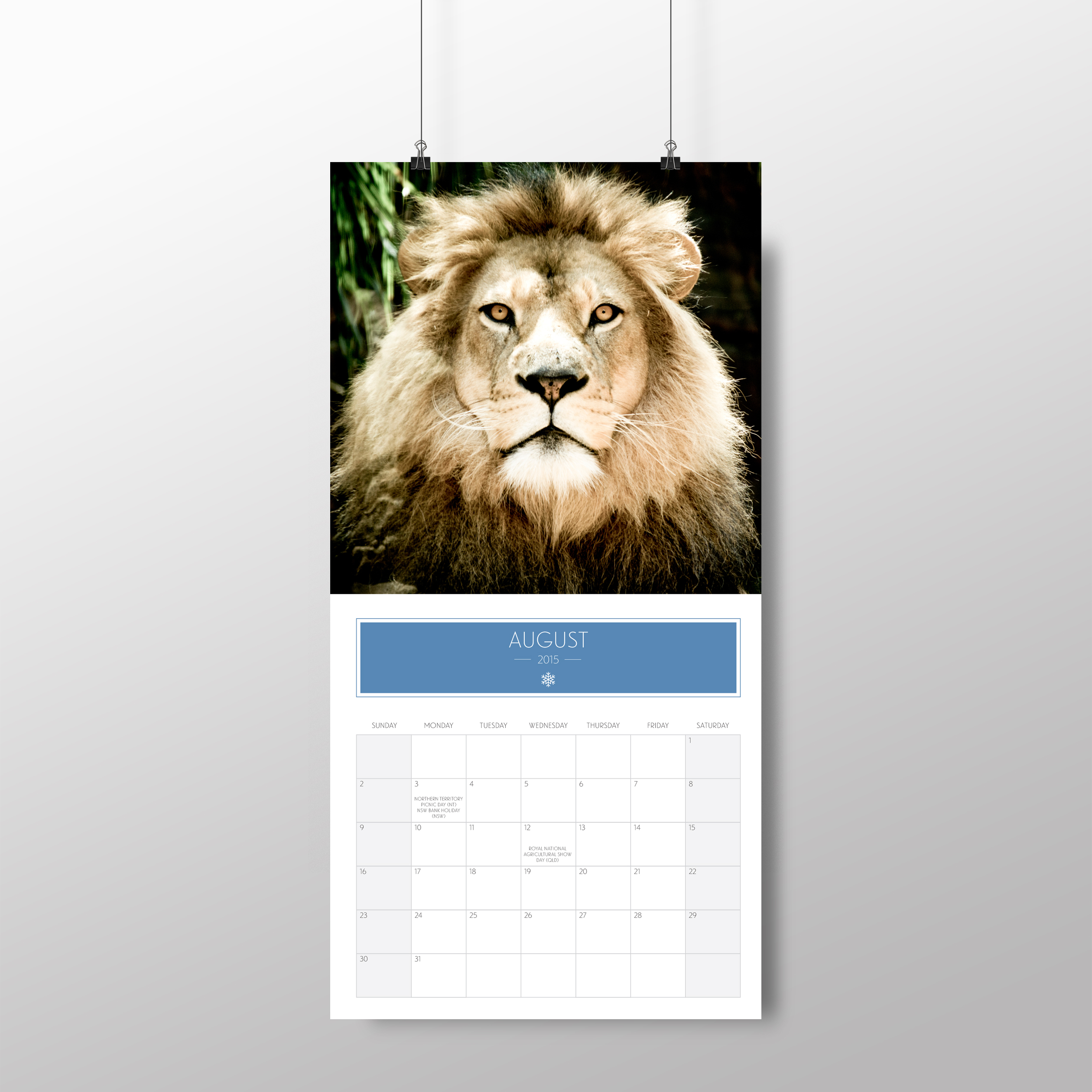 Animal calendar – August