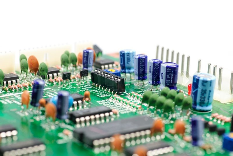 Closeup Of An Integrated Circuit Board. Great Detail